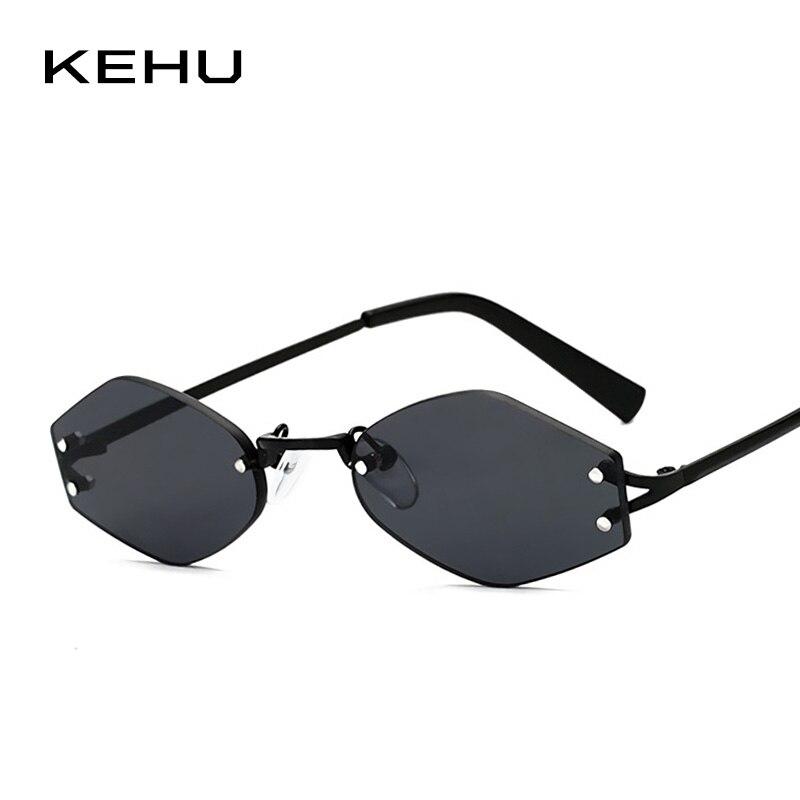 KEHU mujeres poligonal gafas pequeñas gafas de moda señora alta calidad aleación marco marca diseñador diseño K9621