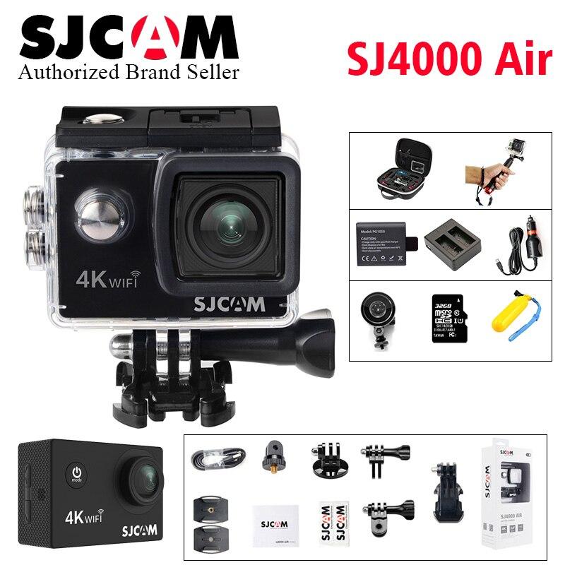 SJCAM SJ4000 AIR 4k WIFI Action Camera Full HD Allwinner Chipset 4K 30fps WiFi Sport DV 2.0 Mini Helmet Camera sj cam go pro yi 2017 arrival original eken action camera h9 h9r 4k sport camera with remote hd wifi 1080p 30fps go waterproof pro actoin cam