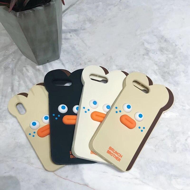 HTB1RFU7zMKTBuNkSne1q6yJoXXaj Cute Cartoon Bear Case for iPhone 11 Pro Max XR XS X 8 Plus 7G 6 6S Toast Cases Pout Brunch Sausage Bear Cat Slicone Cover