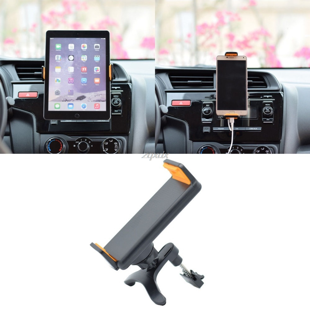 Universal 360 Degree Rotate Car Air Vent Mount Holder Stand For iPhone 4-10 Inch Phone Z07 Drop ship