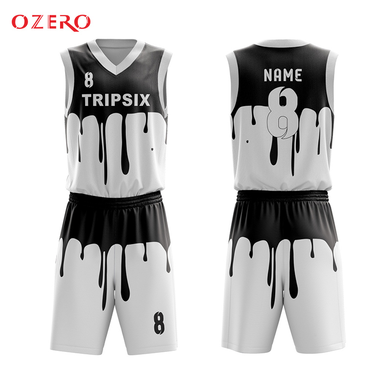 6829f383433 sublimation black pattern basketball jersey uniform customizing mesh  breathable shirt-in Basketball Jerseys from Sports   Entertainment on  Aliexpress.com ...