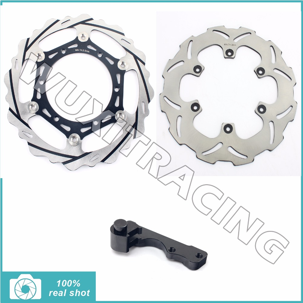 Oversize 270MM Front Rear Brake Disc Rotor Bracket Adaptor for YAMAHA YZ 125 250 426 450 F WR125 WR250 WR426F WR450F 98-14 99 00 high quality 270mm oversize front mx brake disc rotor for yamaha yz125 yz250 yz250f yz450f motorbike front mx brake disc