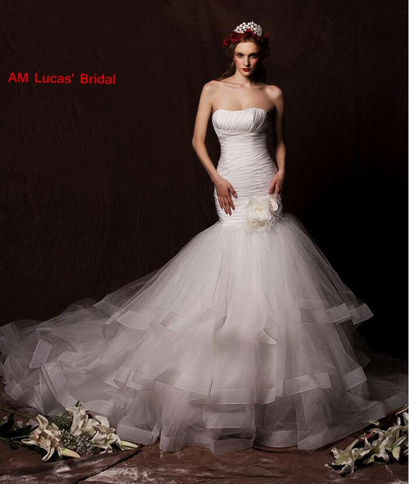Rivini Lace Tiered Wedding Gown: Aliexpress.com : Buy 2018 Long Mermaid Wedding Dresses