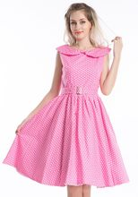 Liquidación VINTAGE ROCKABILLY Rosa POLKADOT 50's PROM SWING PARTY GOTH PINUP RETRO vestidos(China)
