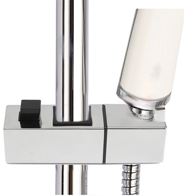 Square Shape Showerhead Stand Block ABS Wall Mounted Bathroom Shower Head  Holder With Shower Pipe Bracket
