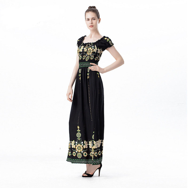 1de2be840f143 KL1166 Top selling women elegant summer dress female fashion print slash  neck off shoulder maxi dress-in Dresses from Women's Clothing & Accessories  ...