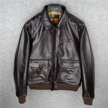 VANLED shipping.Brand A2 style clothing 100% genuine leather Jackets classic slim
