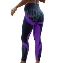 New Mesh Pattern Print Leggings Fitness Feminino For Women Sporting Workout Leggins Elastic Slim Black Purple Pants