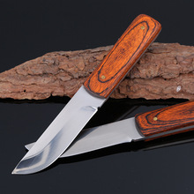 Very Sharp 5Cr13Mov Fixed Blade Knife Small Straight Knife Wood Handle Fixed Hunting Knife 1835#