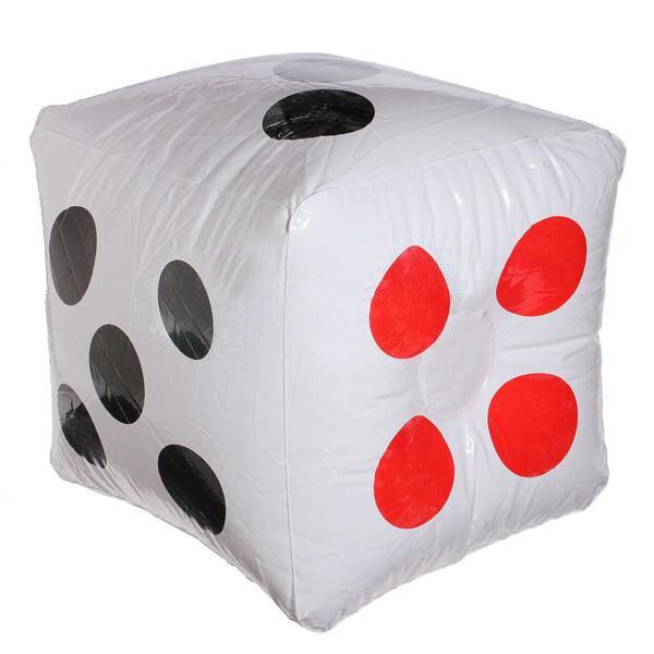 Thời Trang mới 32 cm Inflatable Cube Dice Casino Poker Đảng Trang Trí Đồ Chơi Bãi Biển