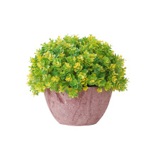 Artificial Flower Flower Pots Fake Flower Green Plant Potted Bonsai Succulents Pot Desktop Indoor Garden Decoration