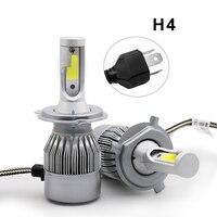 Car Headlight H1/H3/H7/H8/H9/H11/9005/9006 C6 Highpower Headlamp Kit 12V 72W 3800LM IP68 COB Auto LED Lamp Bulb 5