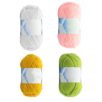 Hot 50g/ball Colorful Section-dyeing Wool Yarn Baby Milk Cotton 100% Soft Acrylic Yarn for Hand Knitting Crochet image