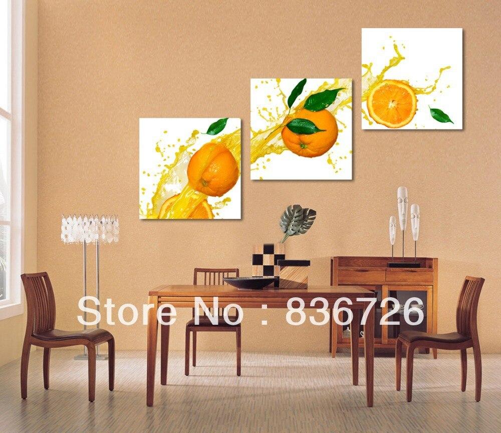 Env o gratis 3 unidades decoraci n de la pared pinturas de for Pintura para comedor