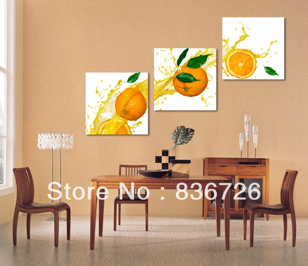Modern Wall Art For Dining Room: Aliexpress.com : Buy Free Shipping 3 Piece Wall Decor Paintings Canvas Modern Wall Decor Fruit