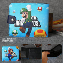 Anime/Game Super Mario Synthetic Leather Short Exquisite Wallet/Button Purse Free Shipping