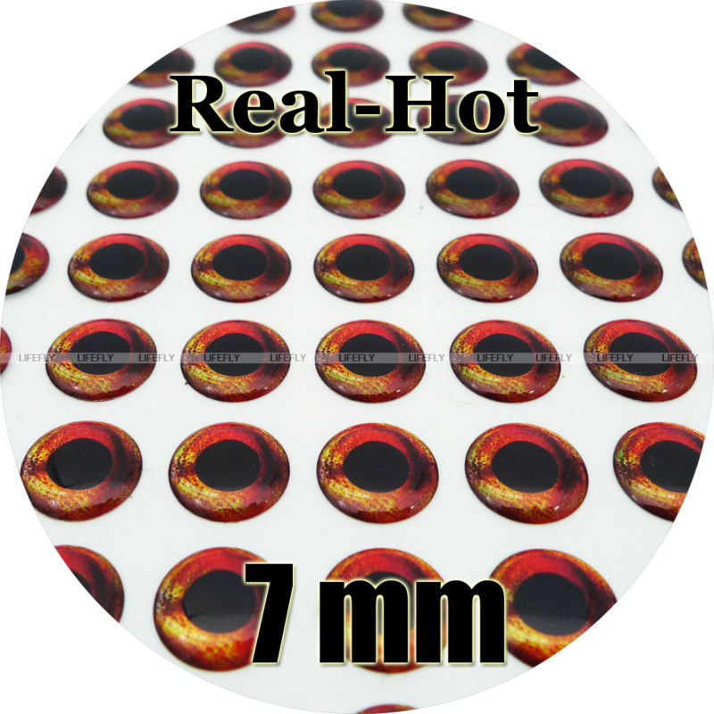 Wholesale 350 Soft Molded 3D Holographic Fish Eyes 5mm Real Hot Fly Jig Lure