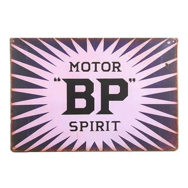 BP Motor Spirit Oil Station Vintage Metal Sign Wall Stickers Home ...