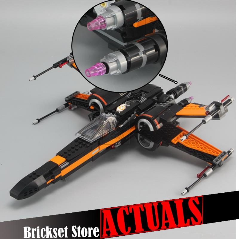 LEPIN 05004 748pcs Star First Order Poes X-Fighter Wing Building Blocks Bricks DIY Toys for children gifts wars 75102 brinquedo