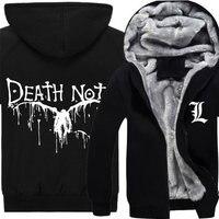 Death Note Hoodie Winter Men Thick Jacket Fashion Anime Yagami Light Cosplay Coat Sweatshirt