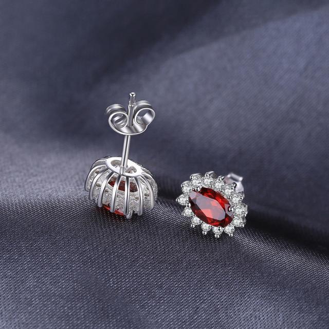 Kate Middleton's Garnet Halo Stud Earrings