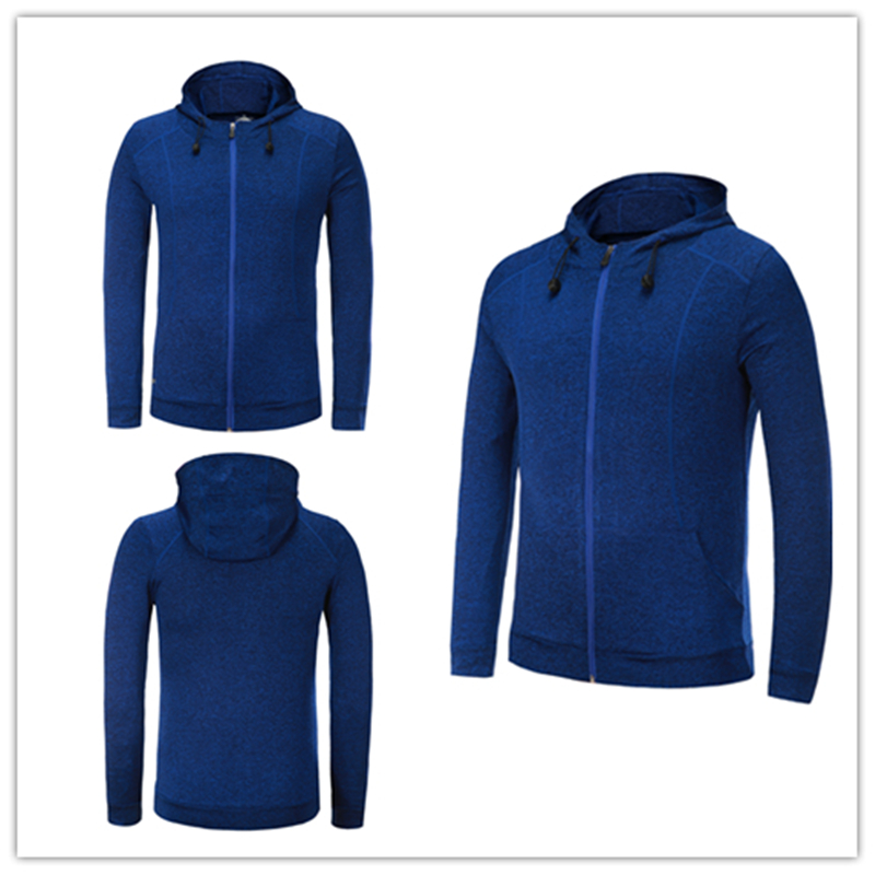 LIDONG 2017new Sports Mens cap zipper jackets Running Tights Basketball Soccer GYM Fitness Football Breathable Quick-Dry Stretch