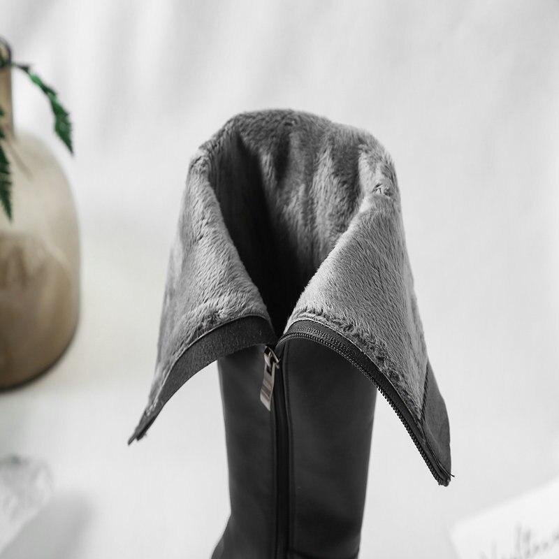 Fiesta Beige Mujer Vestido Sexy Botas 40 Altas negro Rodilla Cuero Tacones  Beige Invierno Genuino Talla Grande Negro Otoño ... 6a464626d1b4