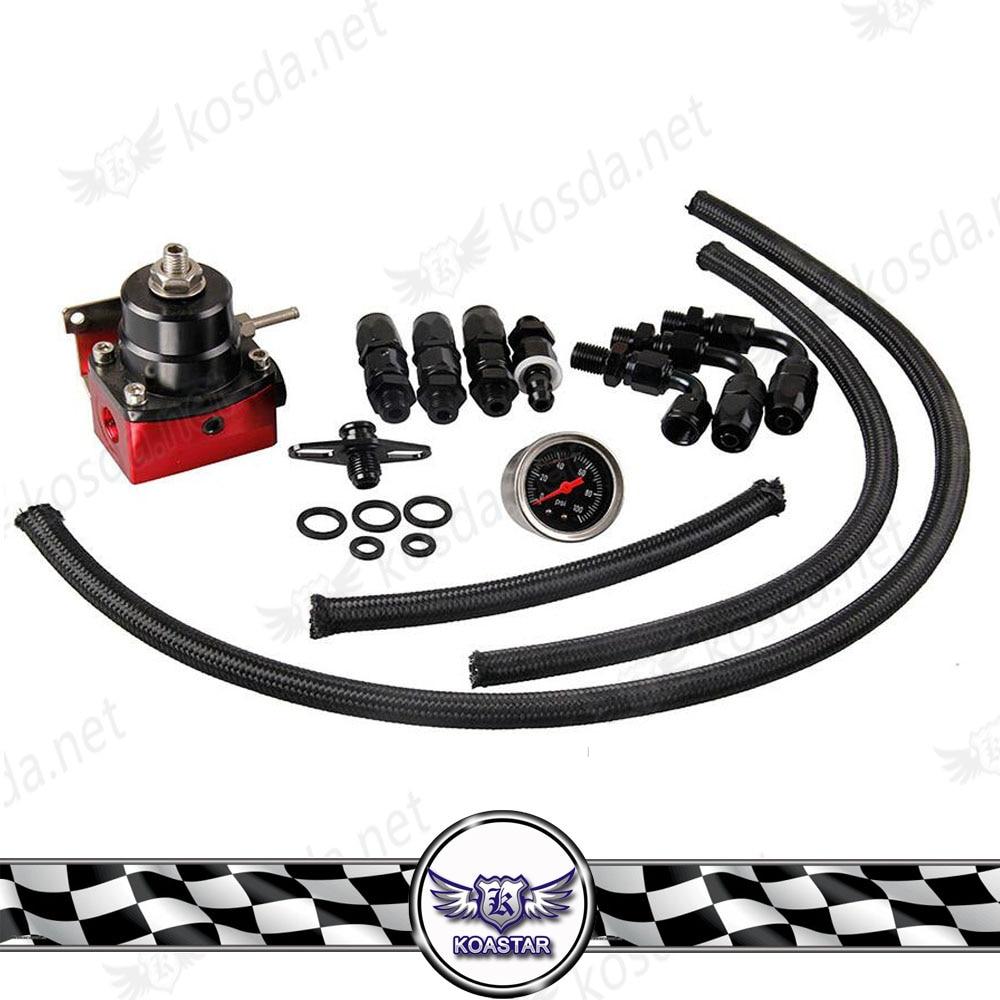 Car Fuel Pressure Regulator Kit Universal Adjustable 6AN