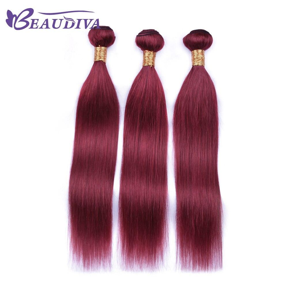BEAU DIVA Brazilian Straight Hair Three Bundles Hair Extension 100% Human Hair Weave Bundle Remy Hair 10 inch-26 inch