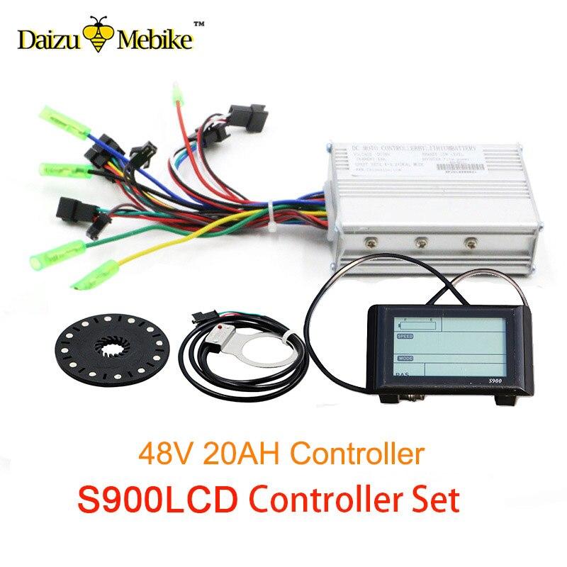 48V 500W Sine Wave bike controller E-bike Kit S6LCD display Meter 48V 20A Dual Mode Hall Sensor Controller PAS Set Ebike kit