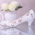 white/ivory Pearl bridal shoes WOMEN rhinestone wedding shoes female flower round toe single pumps high heels shoes