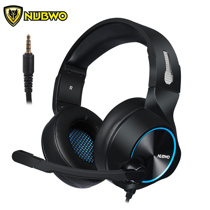 NUBWO N11 PS4 Headset casque Stereo Bass Gaming Headphones with Microphone Mic for PC Gamer/Nintendo Switch/New Xbox one/Phone цена