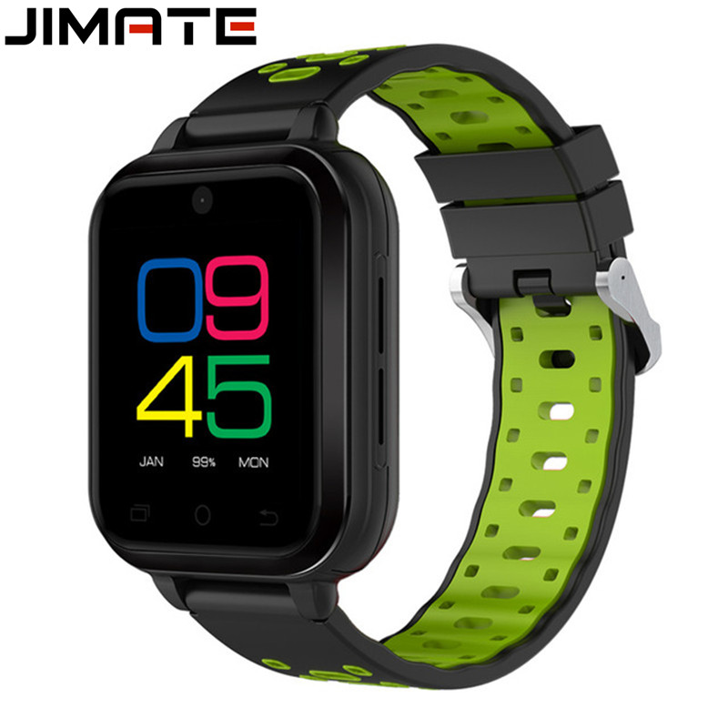 Jimate Sports Smart Watches Quad Core Android 6.0 4G 1GB/8GB SmartWatch Phone Heart Rate Sim Card With 2MP Camera For Men Women цена