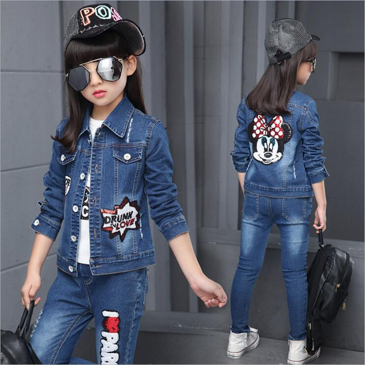 spring girls trend fashion casual sequins letter children/'s Coat Jackets