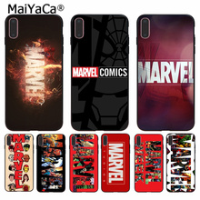 MaiYaCa Marvel Comics logo  Popular Design Case cover Shell for iPhone 8 7 6 6S Plus 5 5S SE XR X XS MAX Coque Shell maiyaca mr and mrs couple bff popular unique design phone cover for iphone 8 7 6 6s plus 5 5s se xr x xs max coque shell