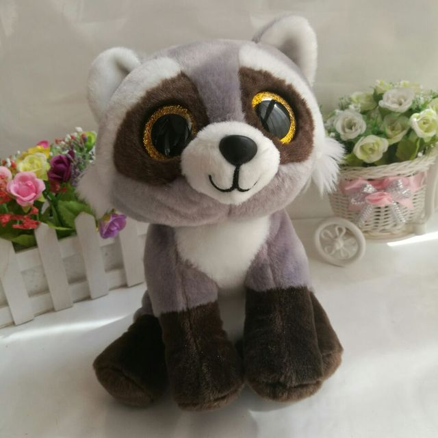 c988e173087 BANDIT raccoon 25CM 10  In Stock Original Ty Beanie Boos Big Eyed .