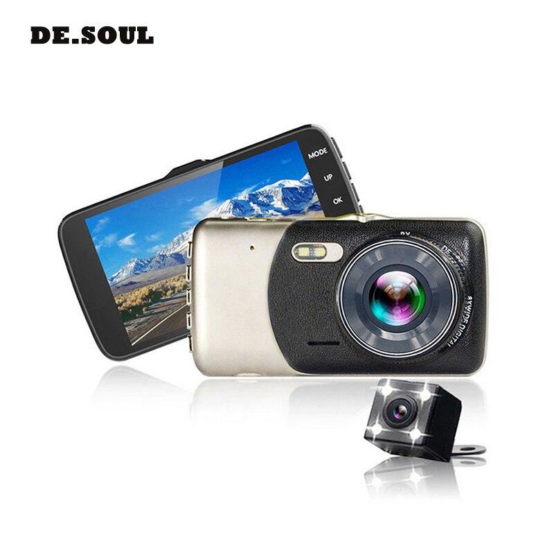 PARASOLANT 4.0 pollice IPS Dello Schermo Dell'automobile DVR Videocamera per auto Full HD 1080 p Video 170 Gradi T810 Dash Cam Registrazione Duale del precipitare Della Macchina Fotografica