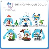 Оптовые 96 шт. мини Qute LOZ Kawaii Амин Хацунэ Сакура Мику пластиковые блоки фигурки Модель развивающие игрушки