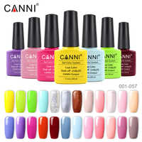CANNI Gel Polish Color 001-066 Paint Long Lasting Soakoff High Quality Salon Base Coat Topcoat Gelpolish LED UV Nail Gel Lacquer
