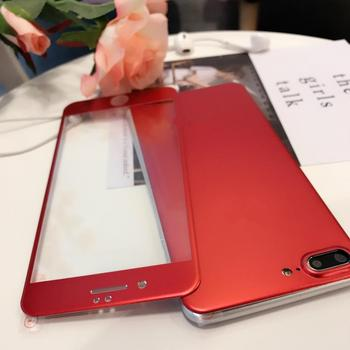 XR Metallic Red Titanium alloy Screen tempered glass For iPhone10 XS MAX 6s 6SP SE2020 7/8 Body Protector film Back Sticker image