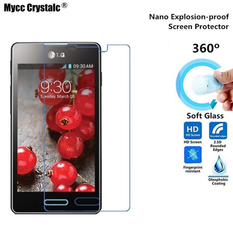 Expressive Mycc Crystalc Nano Explosion-proof soft Glass Protective Film For Lg E450 E460 Optimus L5 Ii Protective Film