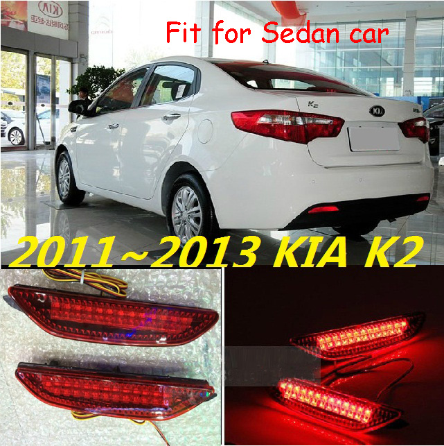 Sedan car use,KlA K2 rear light;2011~2013,LED,free ship!Sportage,soul,spectora,k5,K 2 K3 K4,K7,sorento,kx5,ceed;K2 fog light;Rio