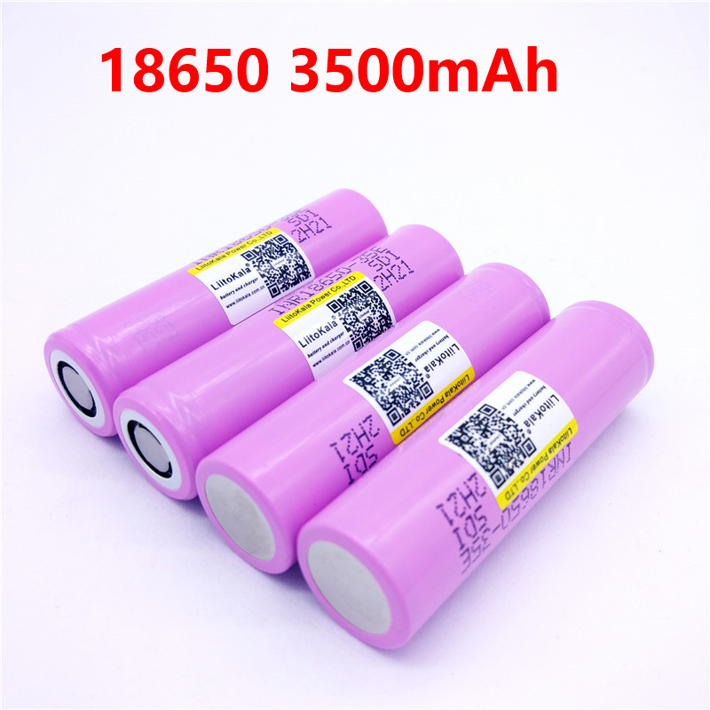 liitokala 18650 3500mAh 13A discharge INR18650 35E INR18650-35E 18650 battery Li-ion 3.7v rechargable Battery