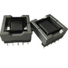 Balun bead EFD25 induttore di ferrite core isolatore di ferrite bead RF choke bobina in ferrite con 5 + 5pin MnZn PC40, 20 set/lotto