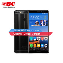 New Gionee M7 Power Mobile Phone Android 7.0 5000mAh Battery Snapdragon Octa Core 4G RAM 64G ROM Full Screen 13M +8.0MP Camera