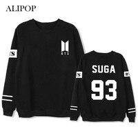 ALIPOP Kpop BTS Bangtan Boys ARMY Love Yourself Album Thin Hoodie Loose Hoodies Pullover Printed Long
