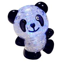 Panda 3D Puzzle LED Flash Panda Crystal Adult Puzzle Creative Children Puzzle Jigsaw Creative Educational Puzzle Toys For Kids