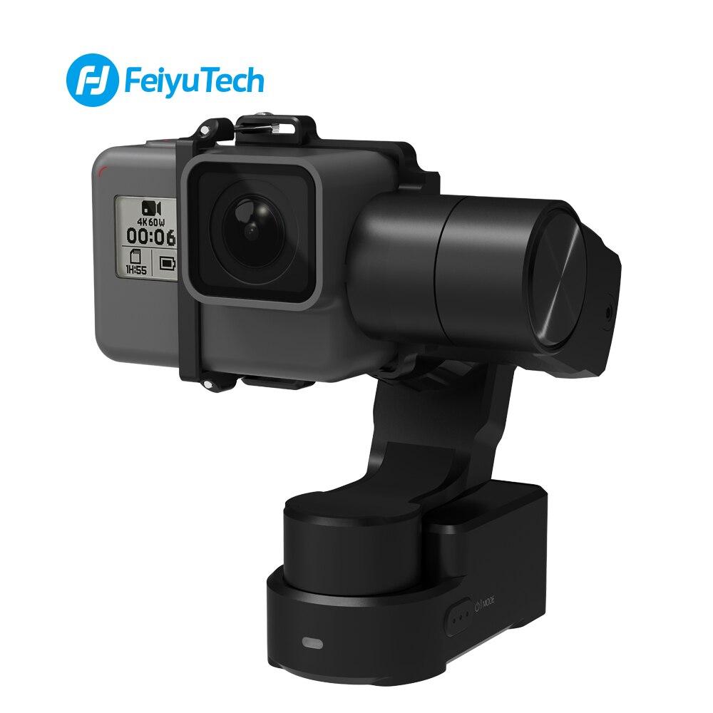 FeiyuTech WG2X 3-axe Portable Cardan Splash-preuve Stabilisateur pour GoPro Hero 7 6 5 4 Sony RX0 YI 4 K SJCAM AEE Camera Action
