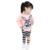 2017 nova outono bonito das crianças Da Princesa boutique outfits conjuntos de roupas para crianças da menina do algodão bonito coelho camisola tarja pant terno