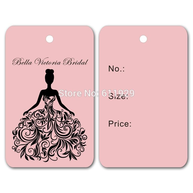 Free shipping customized clothing wedding dress hang tags swing tags garment printed tags labels 500 pcs